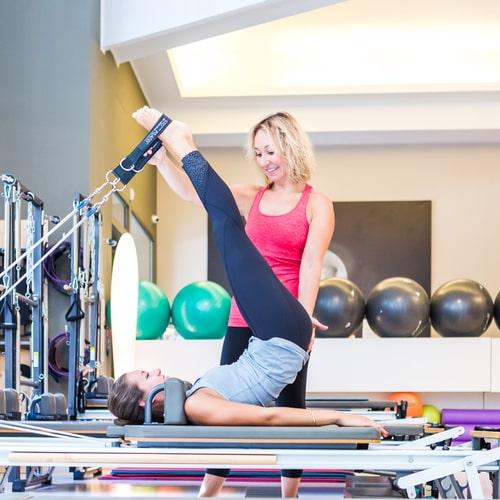 Immagine pilates con personal trainer